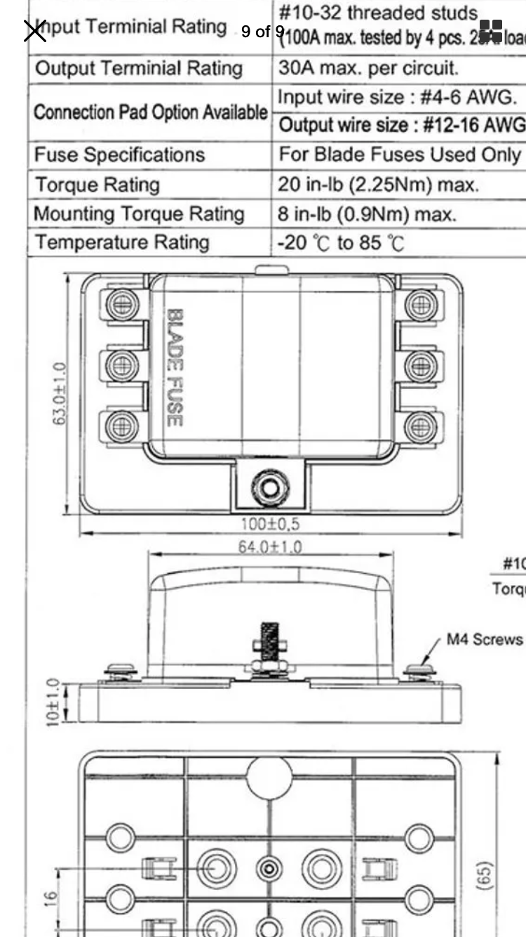 auxiliary fuse box switched relay